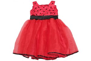 Vestido de Luxo Tema Joaninha - Infantil
