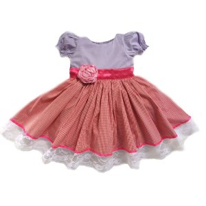 Vestido de Festa Boneca de Pano - Infantil