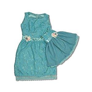 Vestido Azul Tiffany - Mãe e Filha
