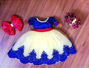 Vestido da Branca de Neve - Infantil