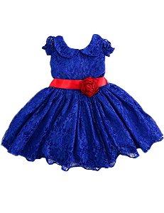Vestido de Renda Azul Galinha Pintadinha - Infantil