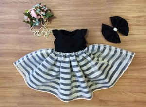 Vestido de Formatura Listrado - Infantil