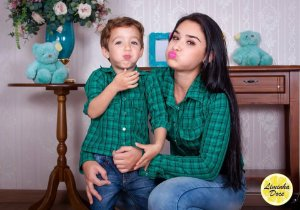 Camisa Xadrez Verde - Tal Mãe Tal Filho