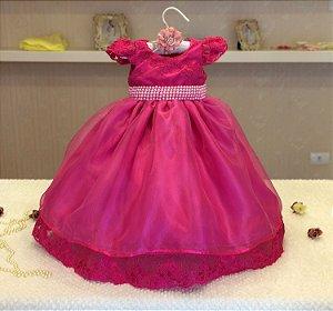 Vestido Rosa Pink para Menina - Infantil