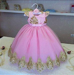 Vestido Princesa Realeza - Infantil