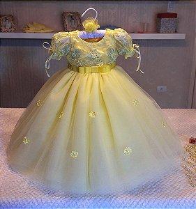 Vestido de Luxo da Bela e a Fera - Infantil