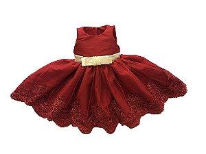 Vestido de Formatura na Cor Marsala - Infantil