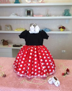Vestido de Luxo da Minnie - Infantil