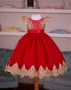 Vestido Vermelho para Miss - Infantil