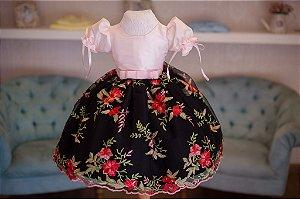 Vestido Tema Boneca Princesa - Infantil