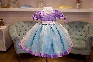 Vestido de Renda Lilas para Meninas