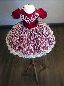 Vestido da Cor Marsala - Infantil