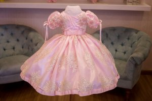 Vestido Princesa de Luxo Rosa - Infantil