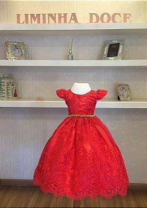 Vestido de Daminha Vermelho - Infantil