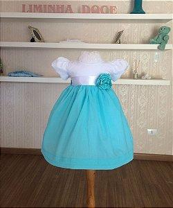 Vestido Branco e Tiffany - Infantil