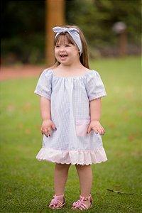 Vestido com Bordado Ingles - Infantil