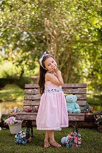 Vestido Rosa Xadrez - Infantil