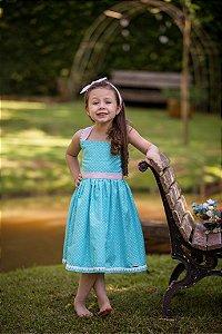 Vestido Azul Claro  - Infantil