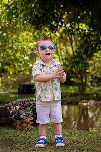 Conjunto Camisa Floral e Shorts  - Infantil