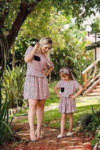 Look Mãe e Filha de Bolinha
