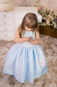 Vestido Azul Bebê - Infantil