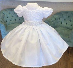 Vestido Luxo branco - Infantil