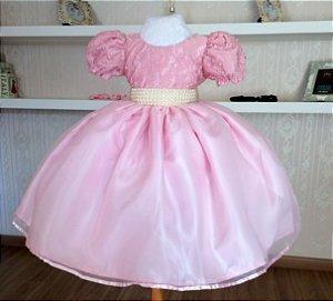 Vestido Luxo Rosa - Infantil