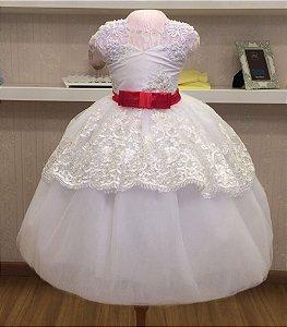 Vestido Branco de Luxo - Infantil