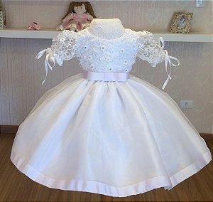 Vestido Branco Realeza - Infantil