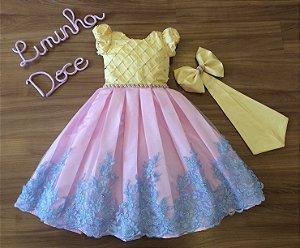 Vestido de Luxo para Tema Unicornio - Infantil