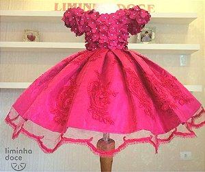 Vestido de Luxo Tema Jardim - Infantil