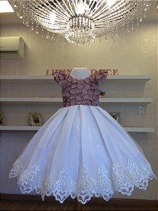 Vestido Rose para Madrinha das Flores - Infantil