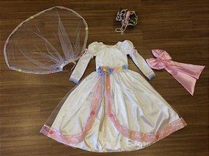 Vestido de Noivinha Caipira com Veu - Infantil