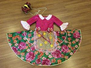 Vestido Chic de Festa Junina - Infantil