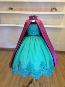 Vestido da Anna Frozen Forever de Luxo - Infantil