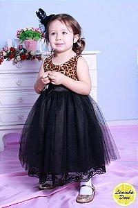 Vestido Tema Oncinha Princesa - Infantil