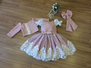 Vestido de Festa com Bolero - Infantil