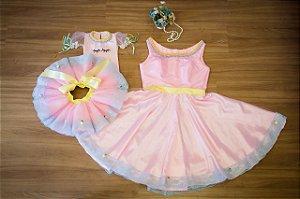 Vestido Mae e Filha para Festa Unicornio - Mãe e Filha