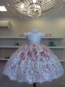 Vestido para Daminha das Flores  - Infantil