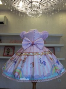 Vestido Festa Para Tema Carrossel - Infantil