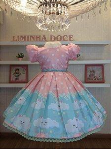 Vestido De Festa  Chuva de Amor - Infantil