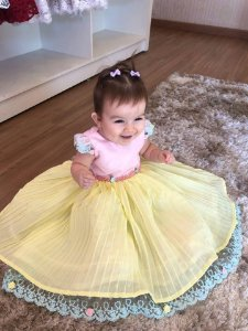 Vestido De Festa Jardim Encantado-Infantil