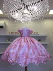Vestido de Festa Bosque das Borboletas Rosa - Infantil