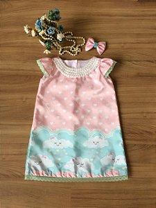 Vestido Trapezio Chuva de Amor- Infantil