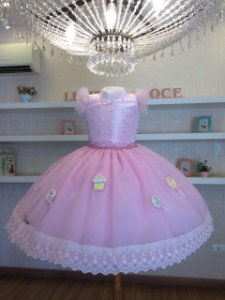 Vestido Mundo Dos Doces -Vestido Infantil