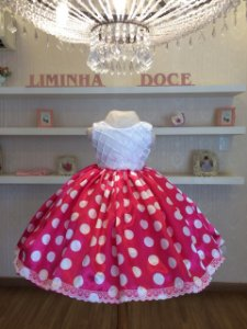 Vestido de Festa Minnie Rosa -Infantil