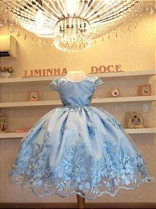 Vestido de festa Cinderela- Vestido de temas Infantis