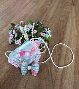 Bolsa Floral e Laço de Cabelo-Acessórios
