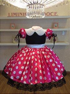 Vestido de Festa Minnie -Vestidos de temas infantis