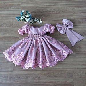 Vestido de festa Rose -Vestido Infantil